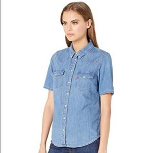 LEVI'S | Denim Short Sleeve Button Up